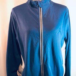 Air Jordan Full Zip-Up Blue Grey Sweatshirt